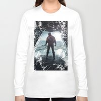 steve rogers Long Sleeve T-shirts featuring Steve Rogers 002 by TheTreasure
