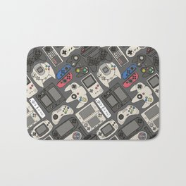 Video Game Controllers in True Colors Bath Mat