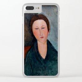 """Amedeo Modigliani """"Buste de jeune fille (Mademoiselle Marthe)"""" Clear iPhone Case"""
