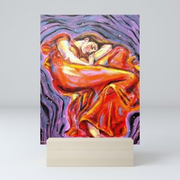 Flaming June at Night Mini Art Print
