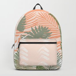 Abstract tropical plants pastel Backpack