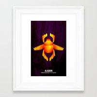 aladdin Framed Art Prints featuring Aladdin  by holysmoaks