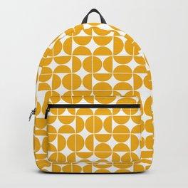 Mid Century Modern Geo 04B Yellow Backpack