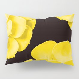 Large Yellow Succulent On Black Background #decor #society6 #buyart Pillow Sham