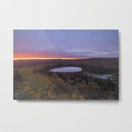 A Vista of Oberg Lake during a Fall Sunset Metal Print