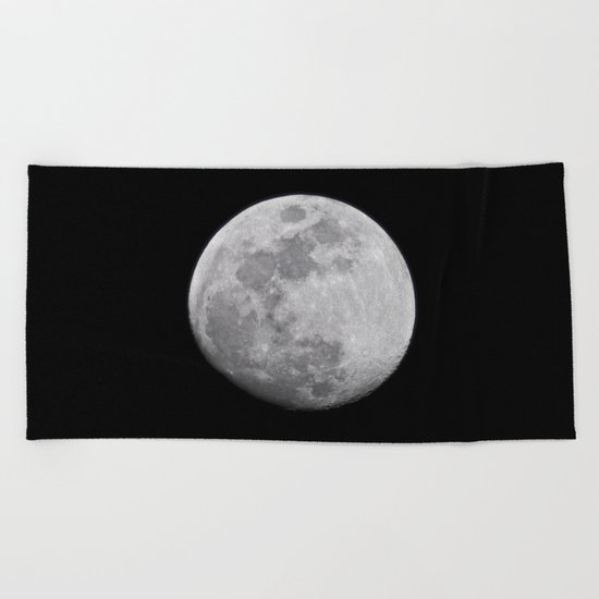 Moon #lunar Beach Towel