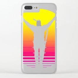 PraiseTheSynthWave Clear iPhone Case