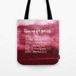 chin up (pink) Tote Bag