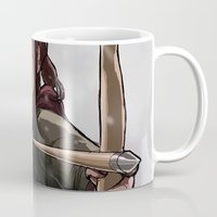 ellie goulding Mugs featuring ELLIE by Яussia