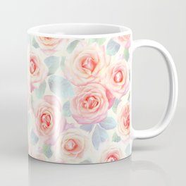 Faded Vintage Painted Roses Coffee Mug