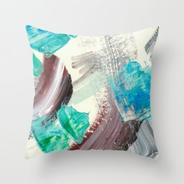Snowy Walk in the Woods 04 Throw Pillow