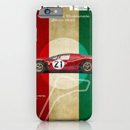 Monza Racetrack Vintage iPhone Case