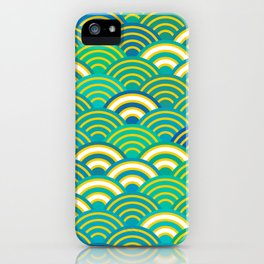 abstract scales simple Spring Nature background with japanese circle iPhone Case
