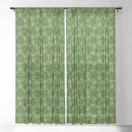 Green Molecules Sheer Curtain