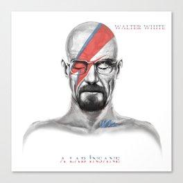 Walter White - A Lab Insane Canvas Print