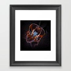 neon orchid bloom II Framed Art Print