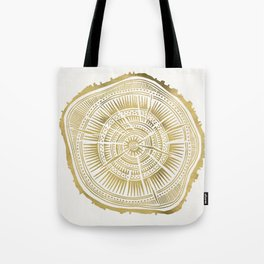Paper Birch – Gold Tree Rings Tote Bag