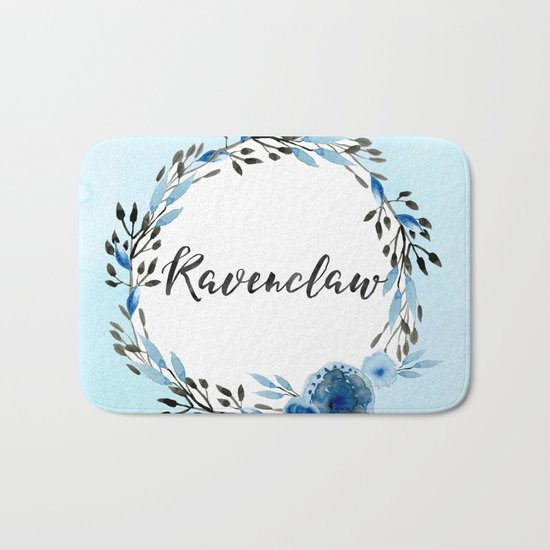 HP Ravenclaw in Watercolor Bath Mat