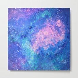 Cloud Galaxy with Stars Metal Print
