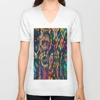 wild things V-neck T-shirts featuring Wild Things by RingWaveArt