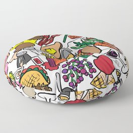 Foodie Floor Pillow