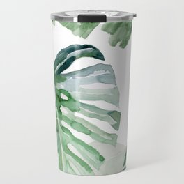 Monstera and Banana Leaf Travel Mug