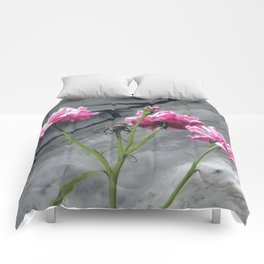 Three Pink Roses Comforters