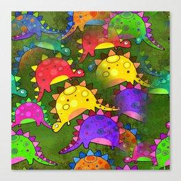 Dinosaur Print Canvas Print