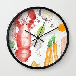 Watercolor Foods Wall Clock