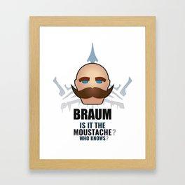 Braum w/ quote Framed Art Print