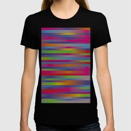 Thinking Dots . Digital Artwork Spectrum Fabric Pattern T-shirt