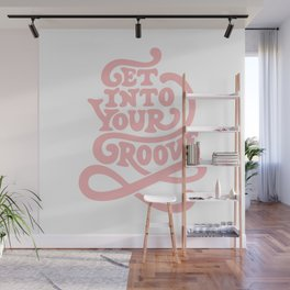 Get Into Your Groove Pink Wall Mural
