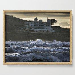 Stormy Burgh Island Hotel Serving Tray