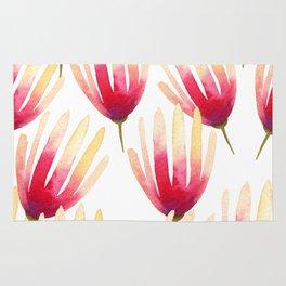 Pink Protea Flower Pattern Rug