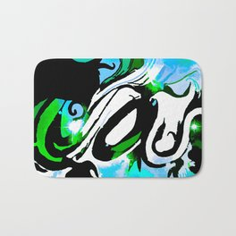 Abstract With The Blues Bath Mat