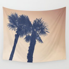 BLUE PALM Wall Tapestry