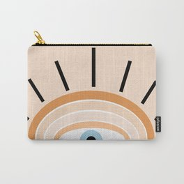 Retro evil eye - earthy Carry-All Pouch