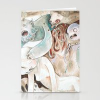 nightmare Stationery Cards featuring Nightmare by Jennifer Lewis