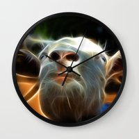 goat Wall Clocks featuring Goat by Veronika