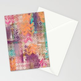 Pink and salmon arrows Stationery Cards