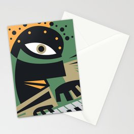 Abstract Jazz Concept, Piano Player, Music pop art Stationery Cards
