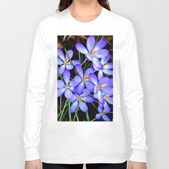 Blue Wildflowers Long Sleeve T-shirt