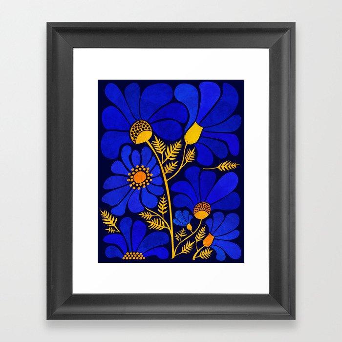 Wildflower Garden Gerahmter Kunstdruck