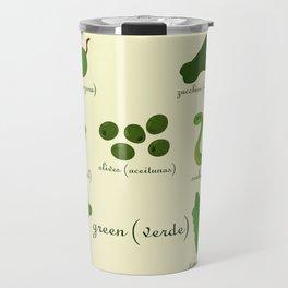 Colors: green (Los colores: verde) Travel Mug