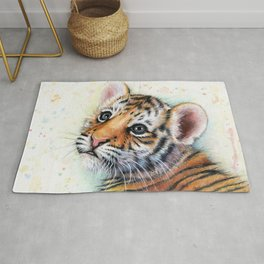 Tiger Cub Watercolor Rug