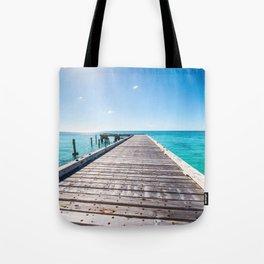 Turks and Caicos beach pier Tote Bag