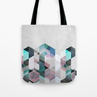 nordic Tote Bags featuring Nordic Combination 23 by Mareike Böhmer