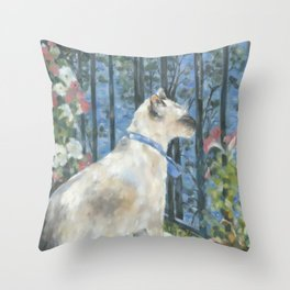 Siamese Harbour Throw Pillow