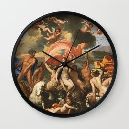The Birth of Venus by Nicolas Poussin (1635) Wall Clock