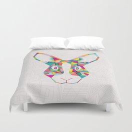 Rainbow Rabbit Duvet Cover